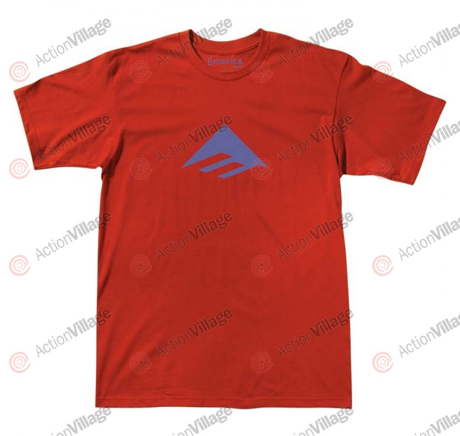 Emerica Triangle 7.0 - Red / Blue - Men's T-Shirt