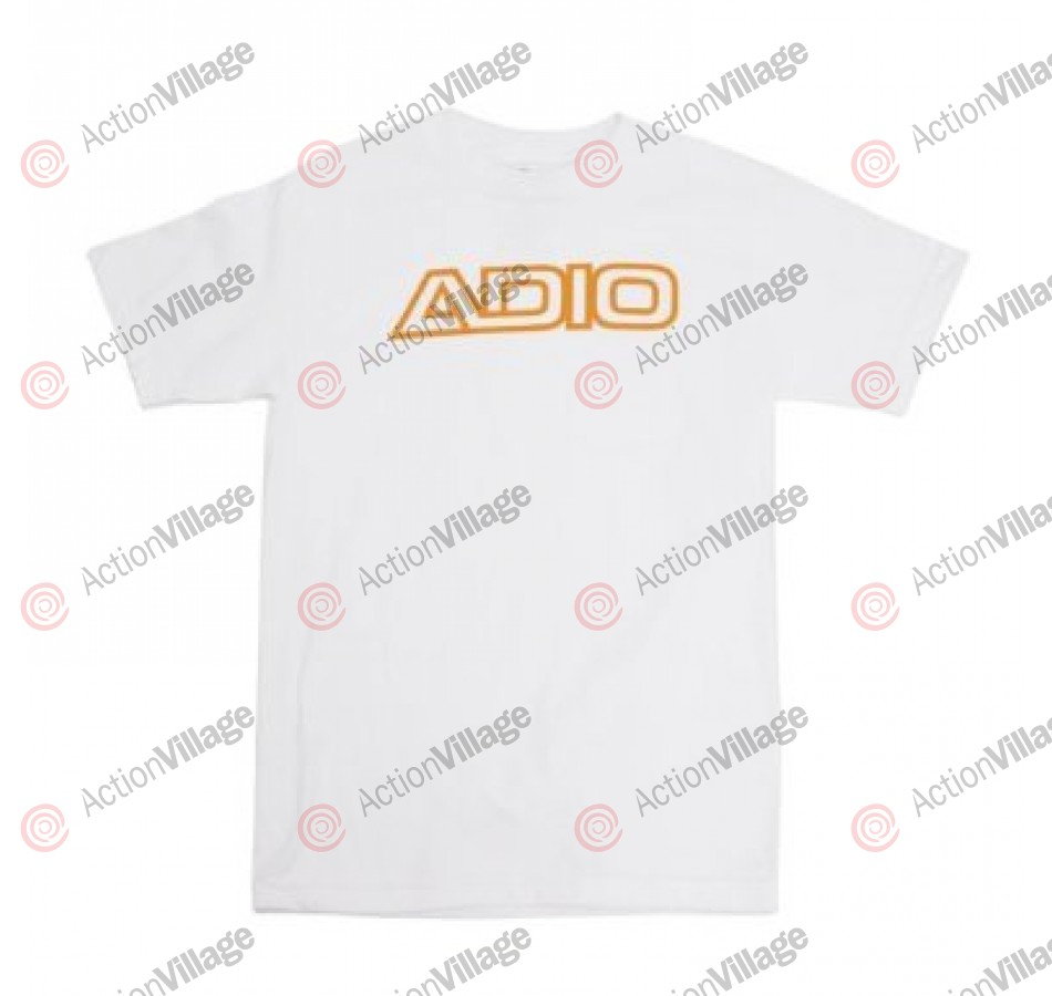 Adio Outline - White / Gold - Men's T-Shirt - Extra Large