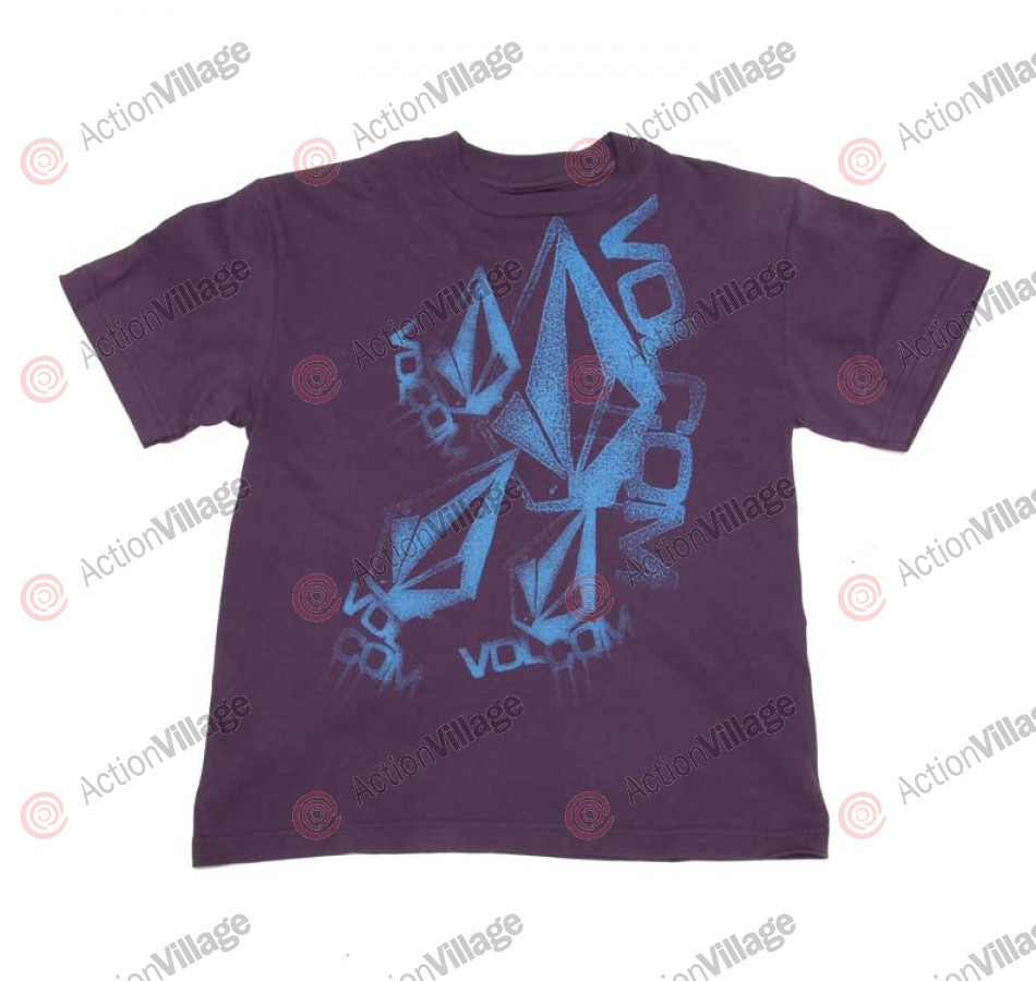 Volcom Stoney Drip - Plum - Youth T-Shirt - Youth Large