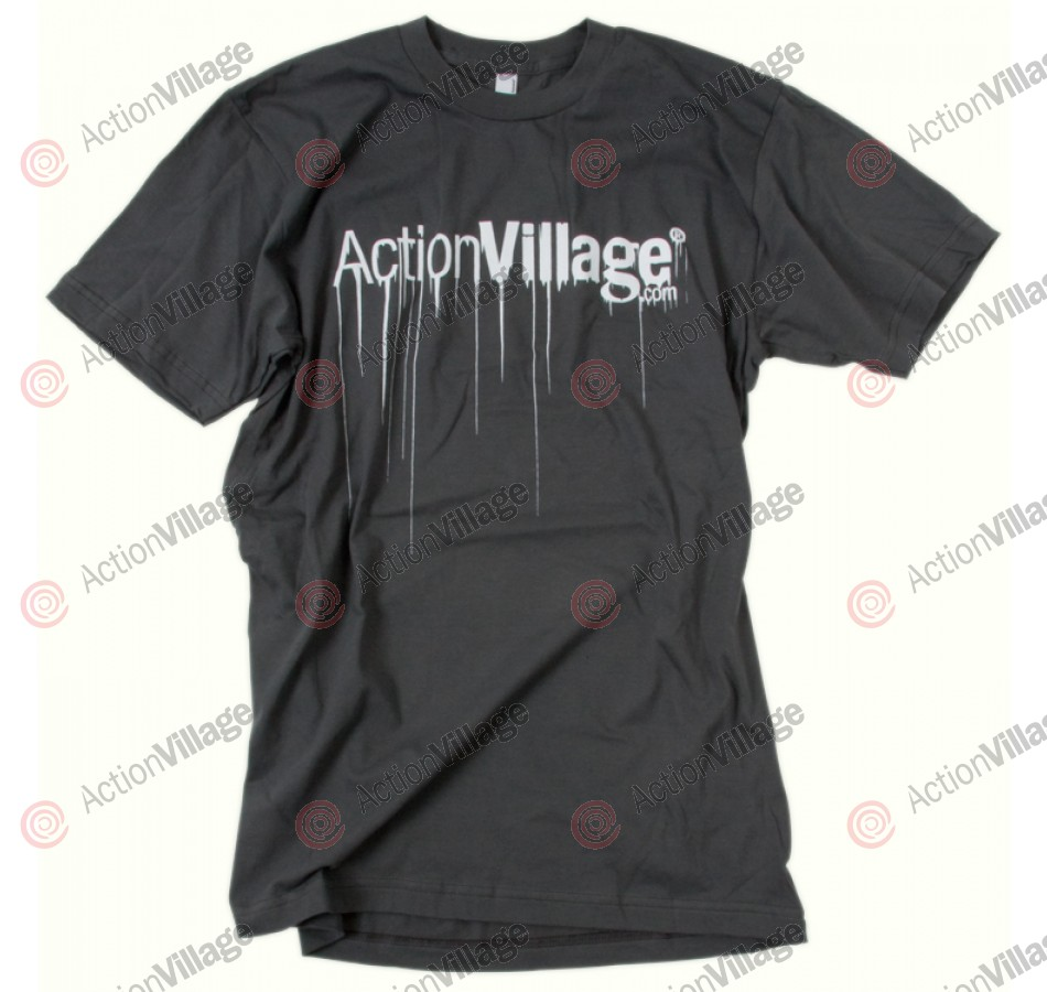 Action Village Drip - Asphalt T-Shirt - Small