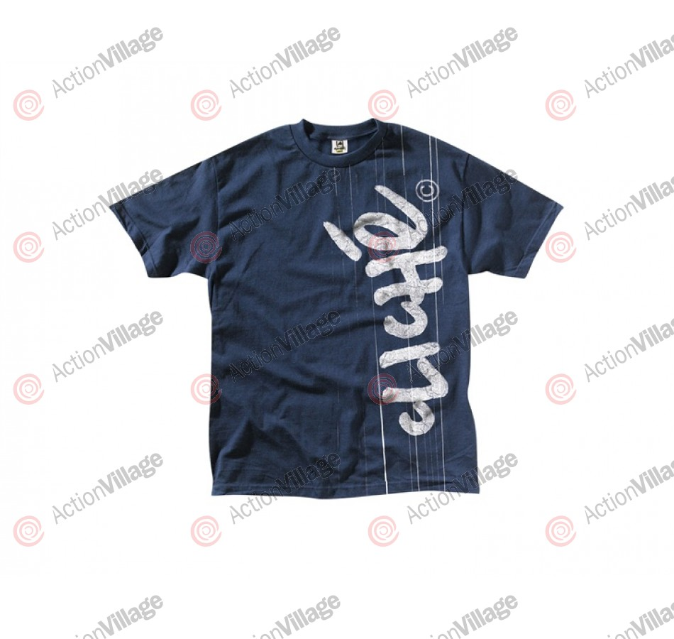 Cliche Handwritten Laminated S/S - Navy - Men's T-Shirt