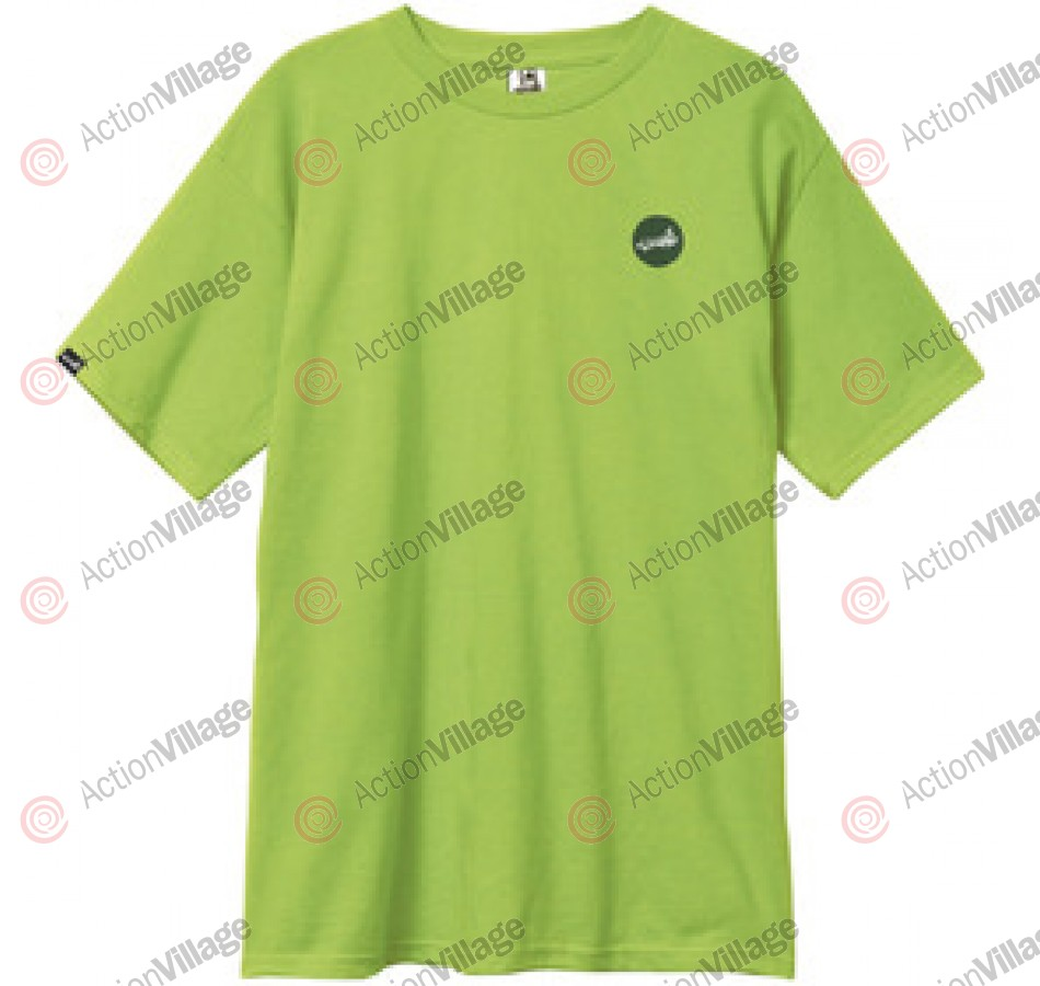 Cliche Circle Dot Slim Tee - Lime - Men's T-Shirt