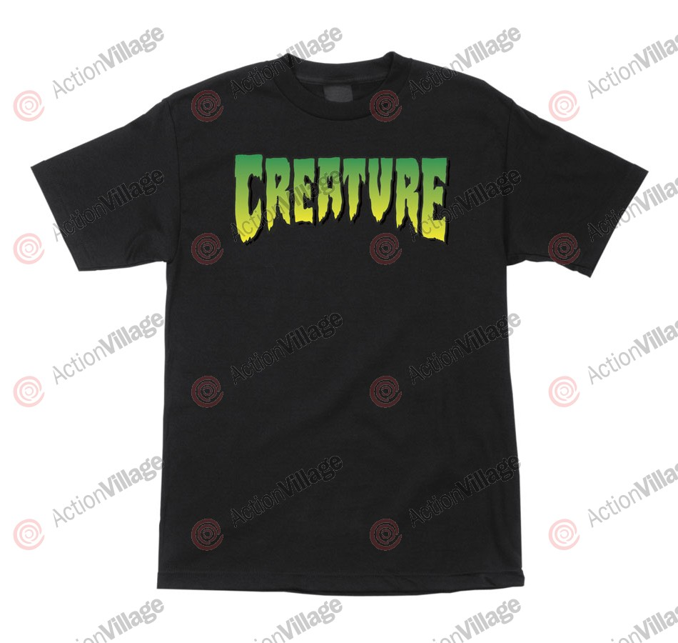 Creature Logo Regular S/S - Black - Mens T-Shirt