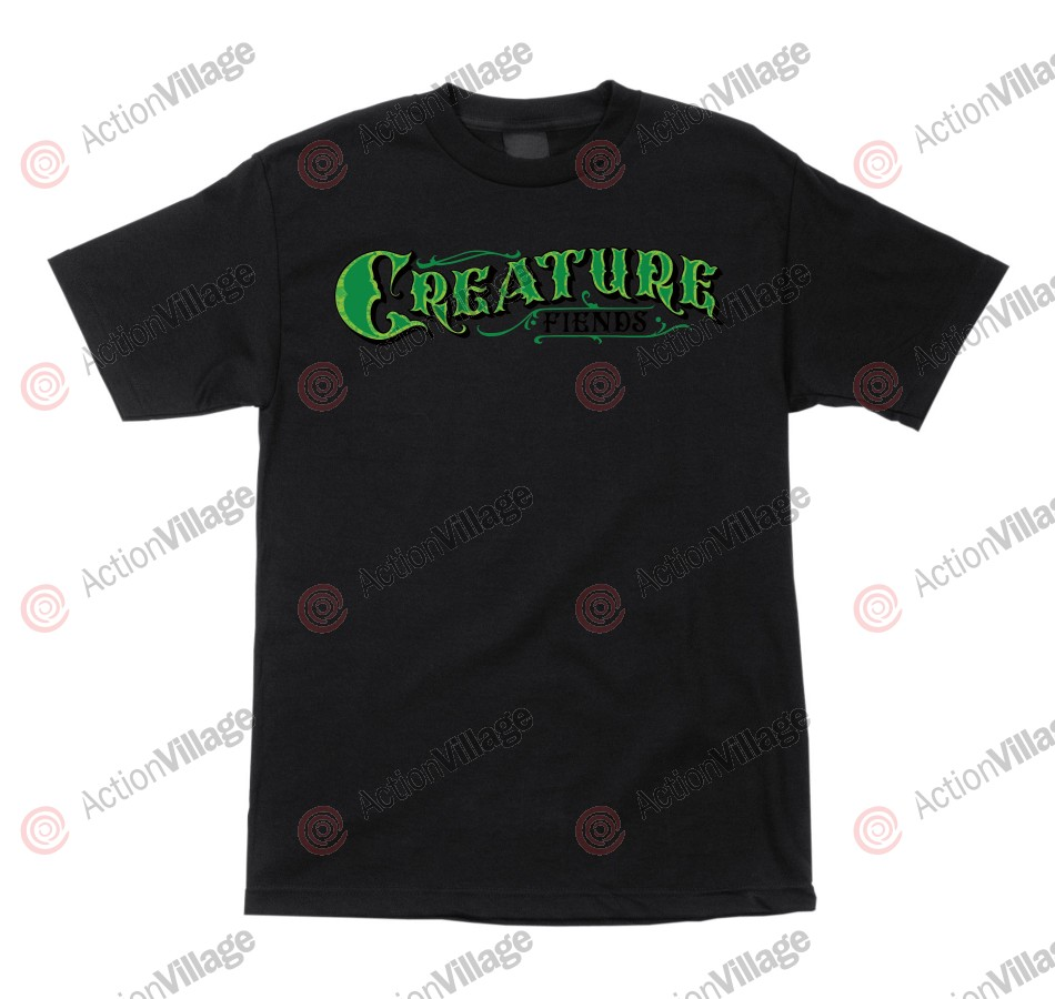 Creature Mirrorz Regular S/S - Black - Mens T-Shirt