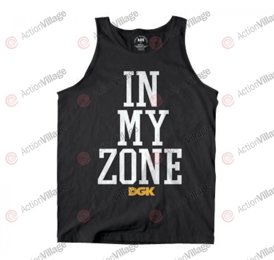 DGK T's In My Zone Tank - Black - Men's T-Shirt