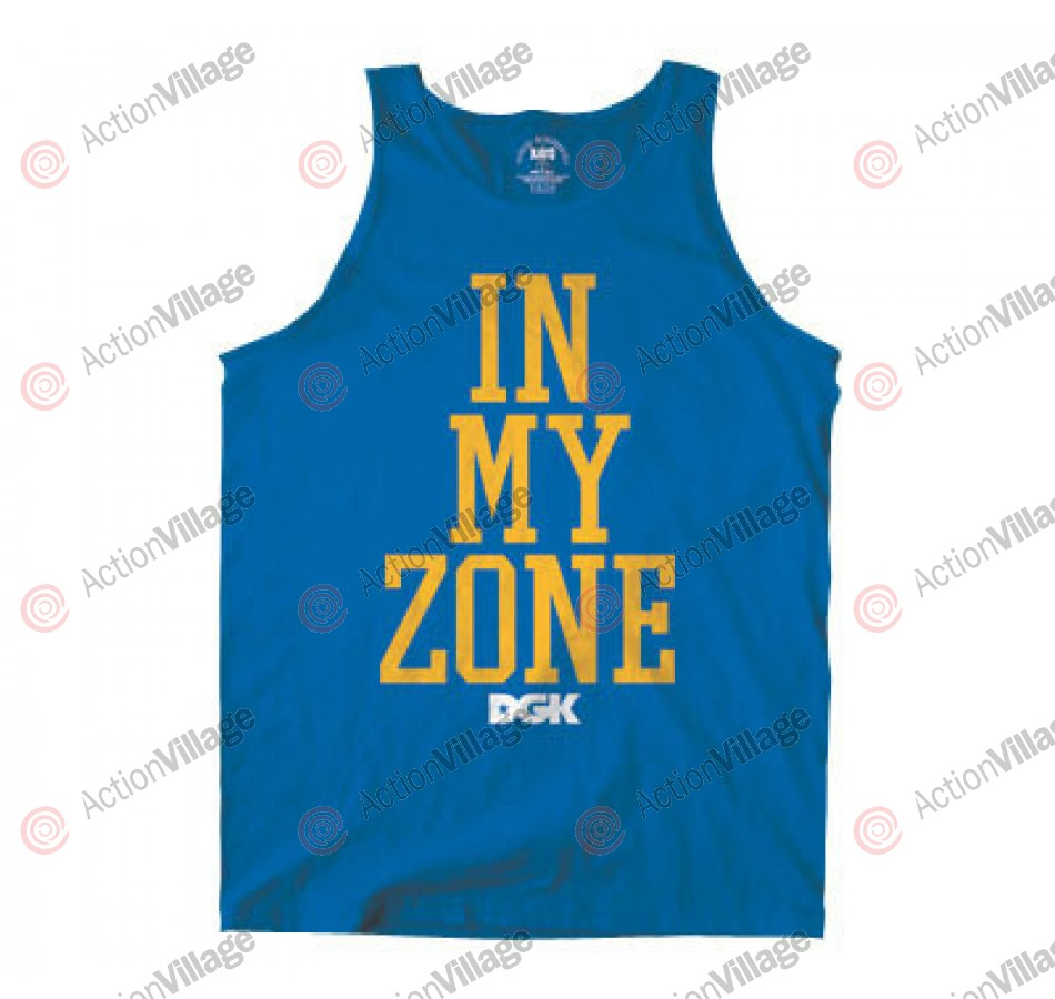 DGK T's In My Zone Tank - Royal - Men's T-Shirt