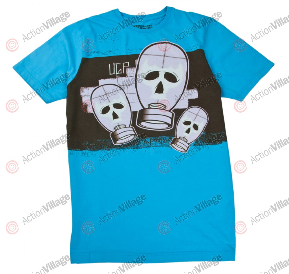 Underground Products Gas Masca - Blue - Men's T-Shirt