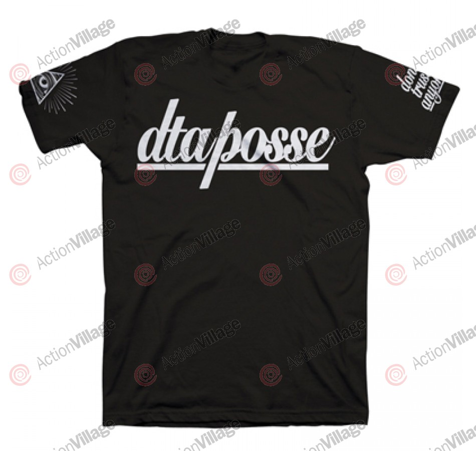 DTA Posse Script - Black / White - Men's T-Shirt