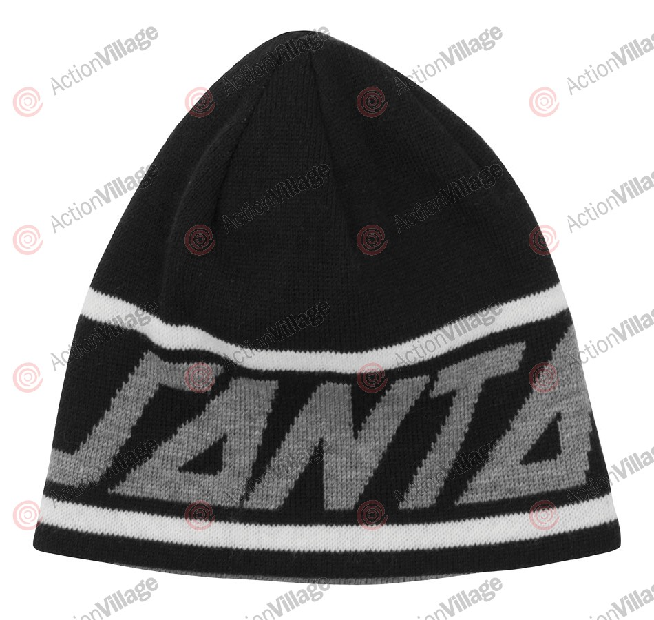 Santa Cruz Locals Only Strip Skull Cap Reversible - One Size Fits All - Black - Men's Beanie