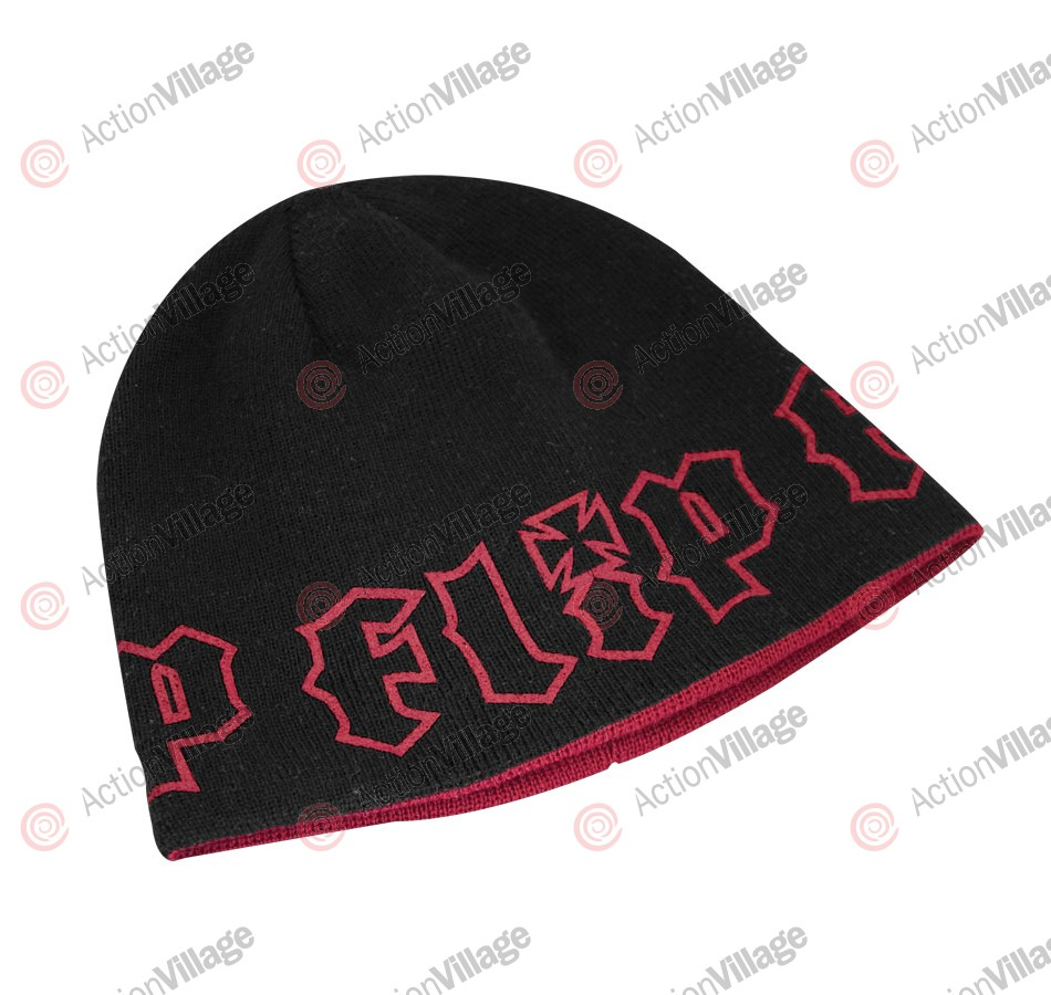 Flip HKD Skull Cap Reversible - One Size Fits All - Black/Red - Men's Beanie