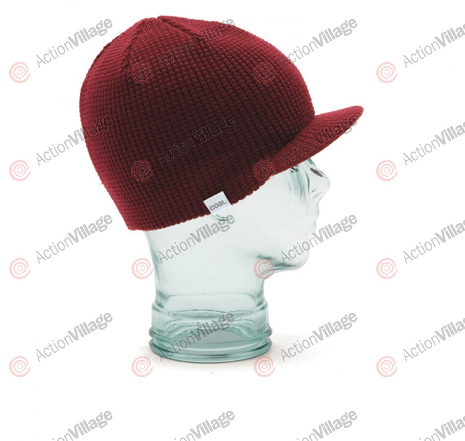 Coal Staple Brim - Dark Red - Beanie