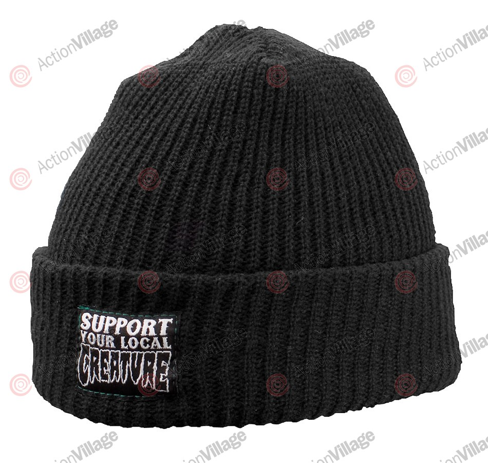 Creature Support Long Shoreman - One Size Fits All - Black - Men's Beanie