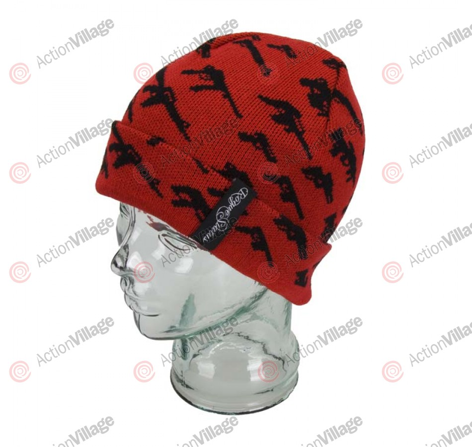 Rogue Status Gunshow - Men's Beanie - Red/Black