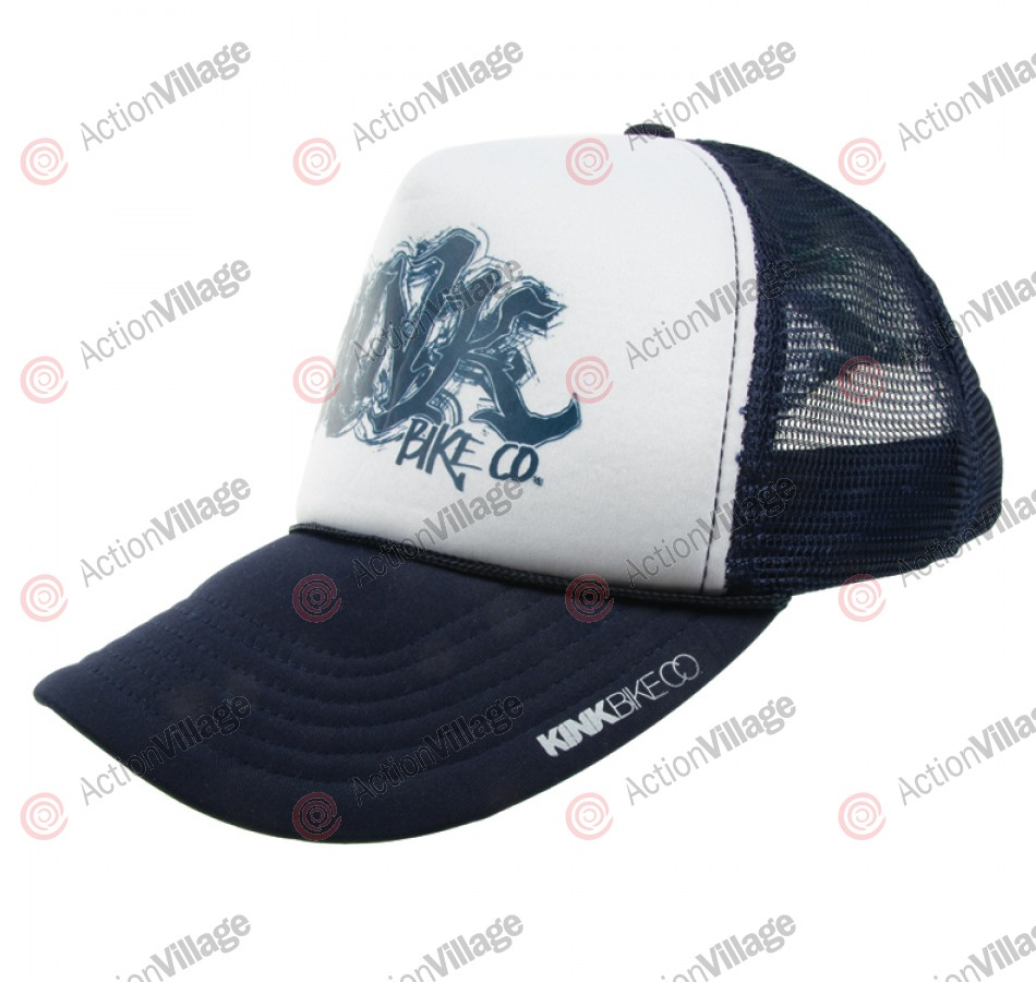 Kink Scribe - Men's Hat - Navy/White