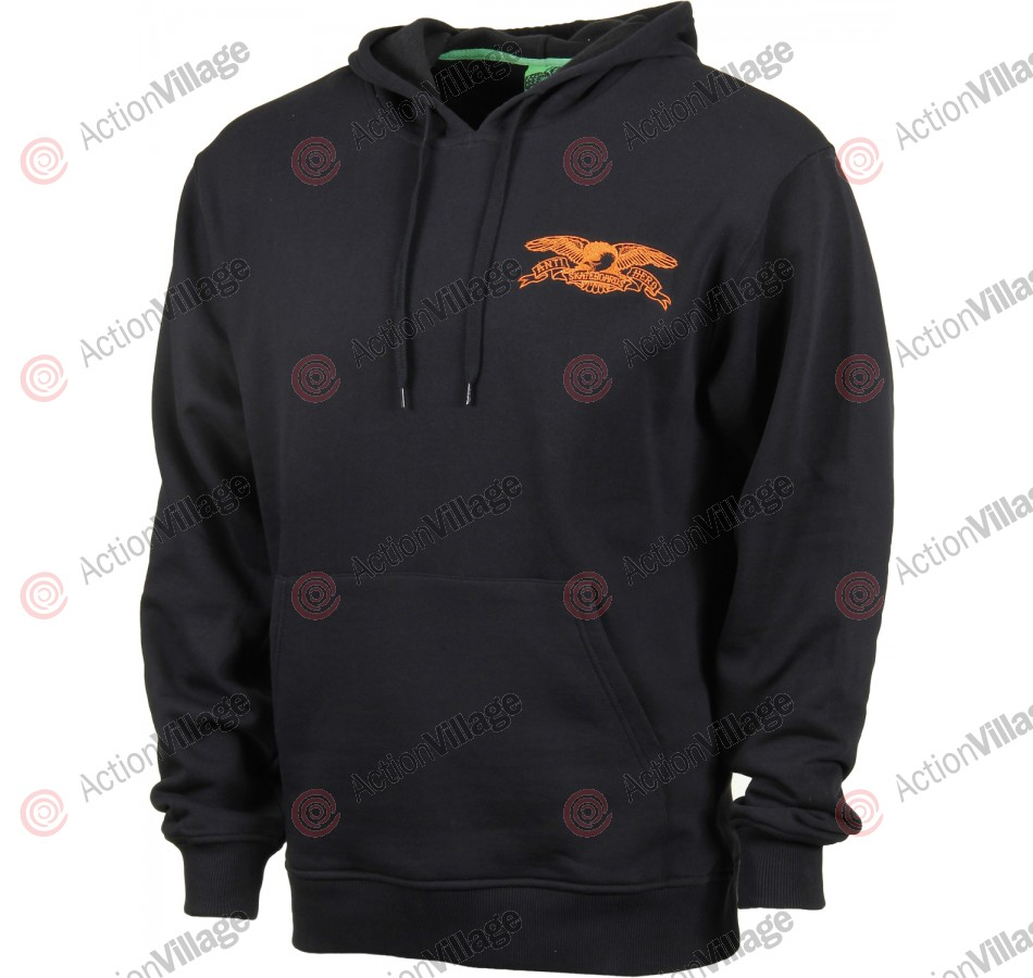 Anti-Hero Basic Eagle Emblem - Black/Orange - Men's Sweatshirt - Small