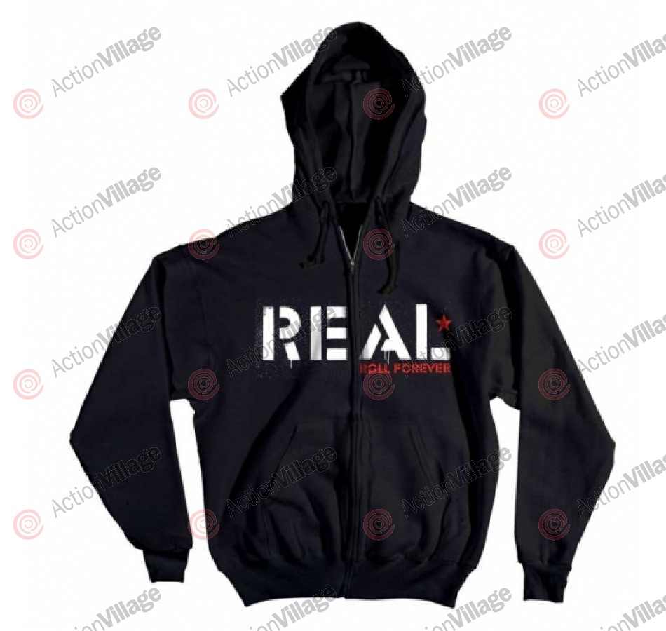 Real Zip Infantry - Black - Men's Sweatshirt