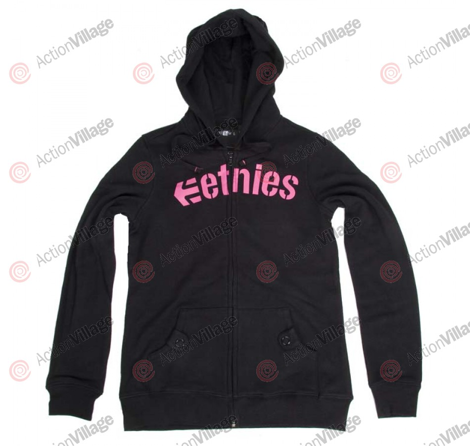 Etnies Corporate - Women's Sweatshirt - Black / Pink - Small
