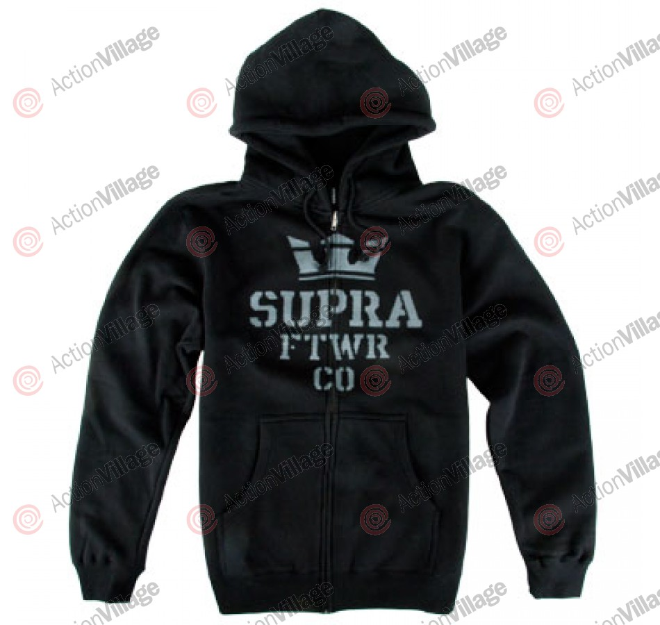 Supra Distorted Stack - Men's Sweatshirts - Black