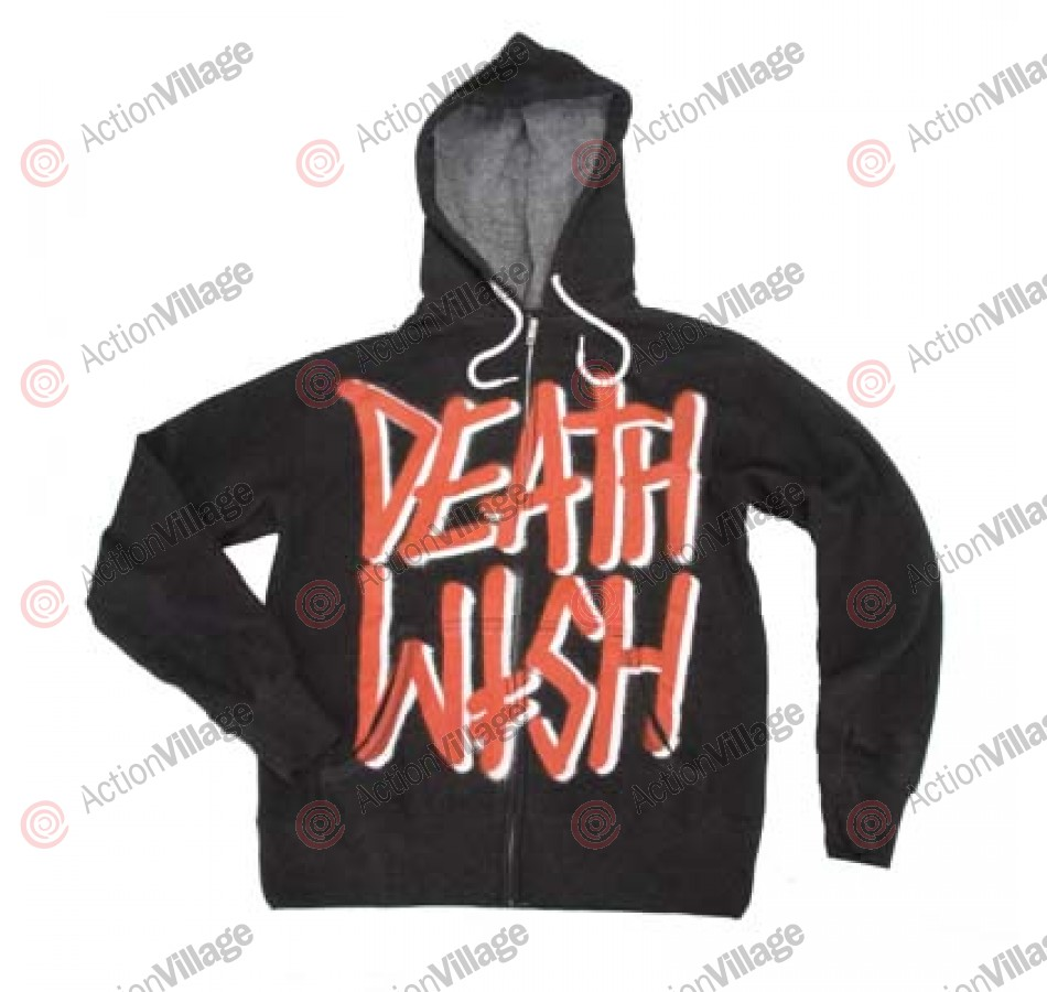 Deathwish Deathstack - Men's Sweatshirt - Charcoal / Red