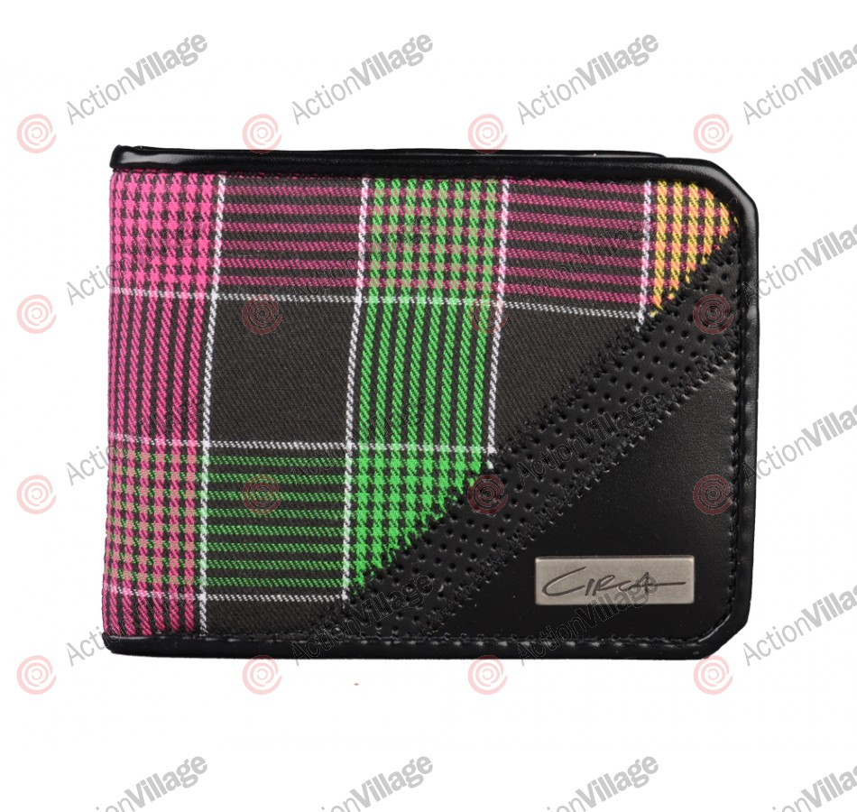Circa Plaid Promo - Men's Wallet - Black