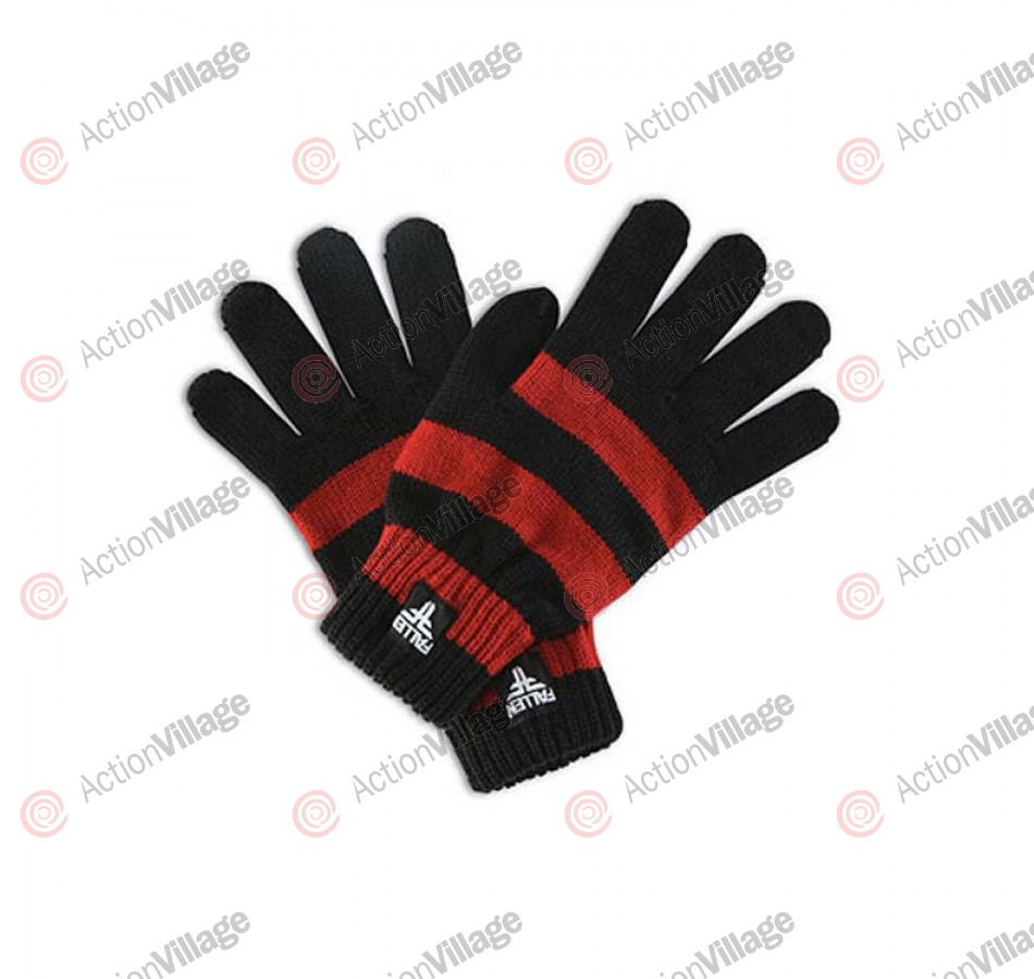Fallen Surplus - Men's Gloves - Black / Oxblood - Large