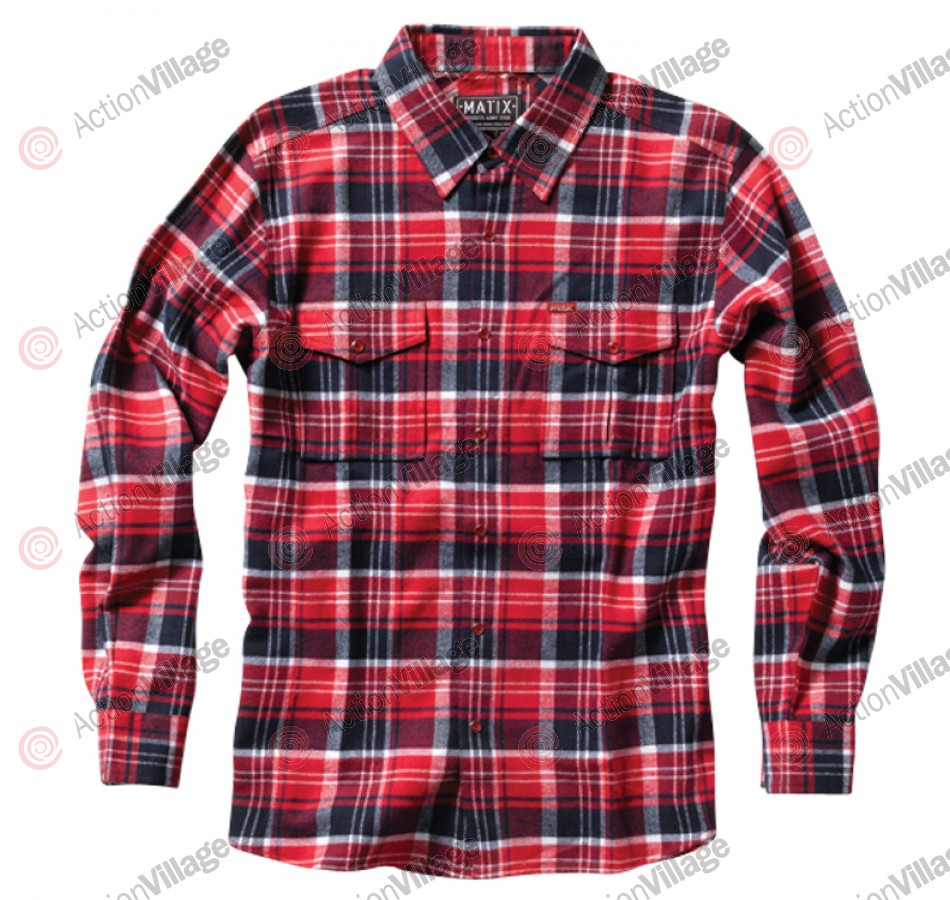 Matix Caprica - Cardinal Red - Men's Collared Shirt