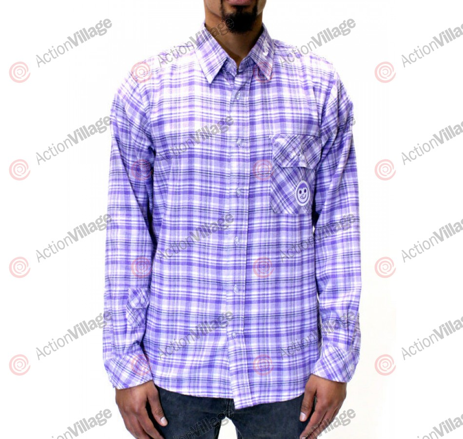 Neff Flannel - Men's T-Shirt - Purple - XXL