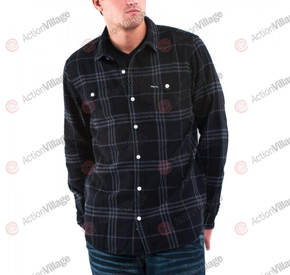 LRG Fight On Woven - Black - Men's Collared Shirt