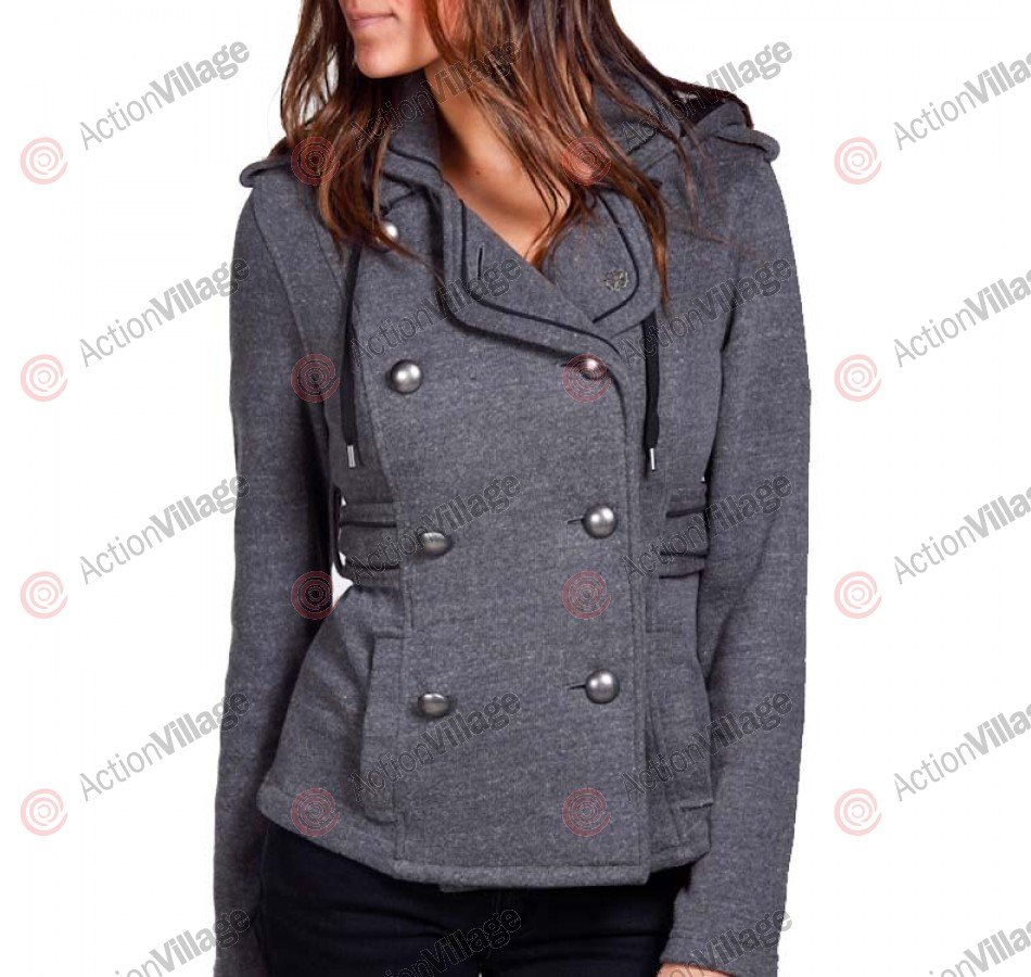 Obey Nautical Michigan Ave. - Black - Women's Jacket - Medium