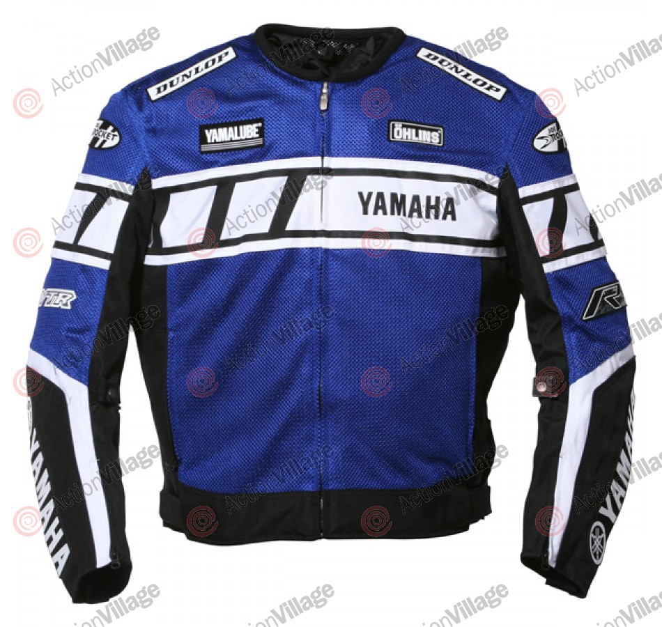 Joe Rocket Mens Riding Yamaha Superstock Blue Mesh - Men's Jacket - Large
