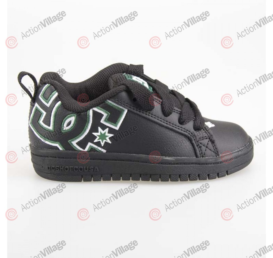 DC Court Graffik - Kids' Shoes Black / Green