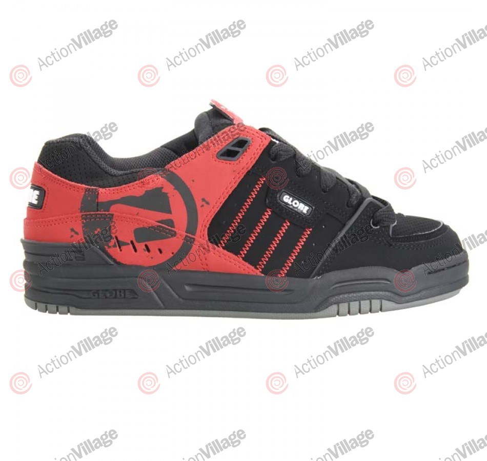 Globe Fusion - Men's Shoes Black / Moto Red