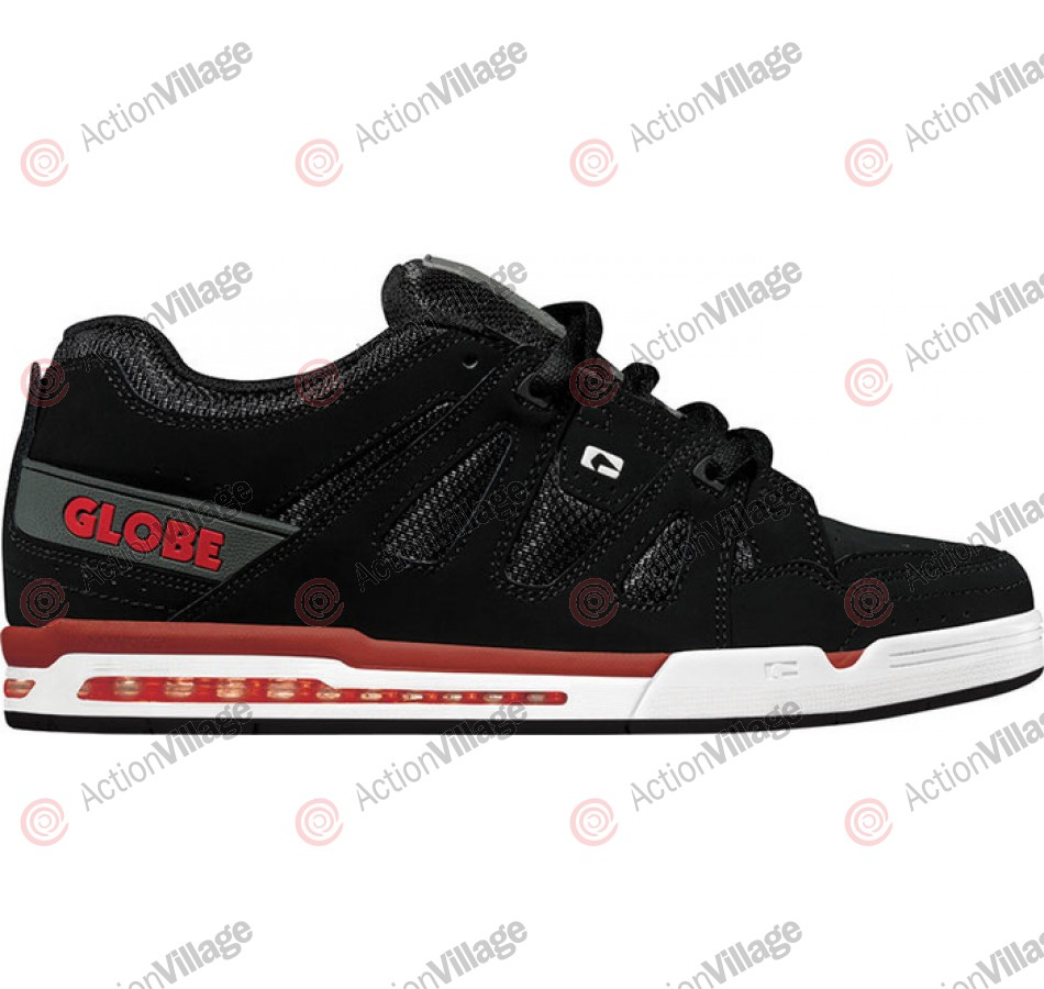 Globe Option - Black/Charcoal/Red - Mens Skate Shoes