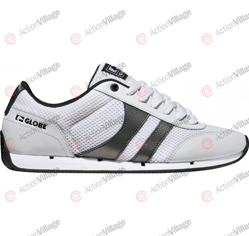 Globe Pulse Lite - White/Pewter Metallic - Mens Skate Shoes