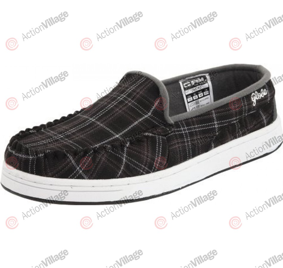 Globe Castro - Black/Charcoal Plaid - Mens Skate Shoes