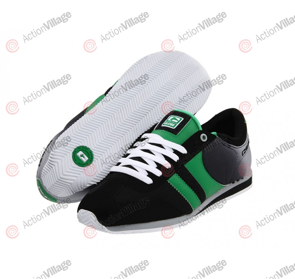 Globe Pulse Plus - Black/Green - Mens Skate Shoes