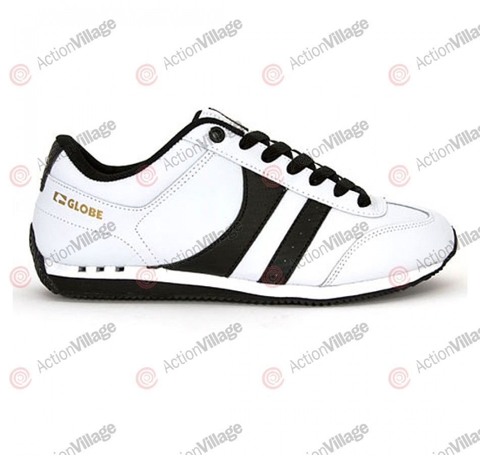 Globe Pulse - White/Black/Gold - Skateboard Shoes