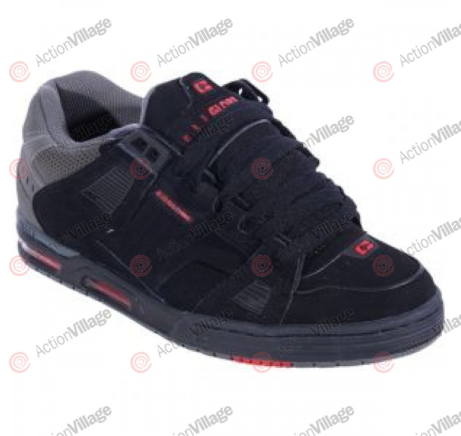 Globe Sabre - Black/Charcoal/True Red - Skateboard Shoes