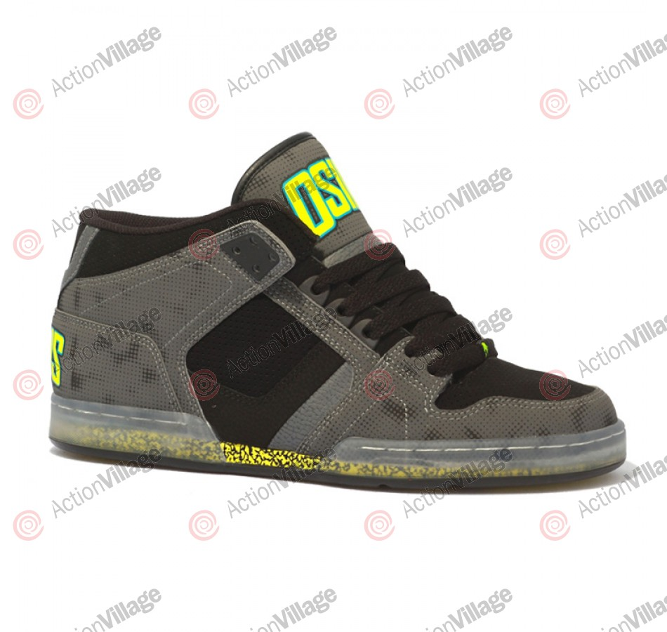 Osiris NYC 83 Mid - Men's Shoes Grey / Lime / RR-Nyquist