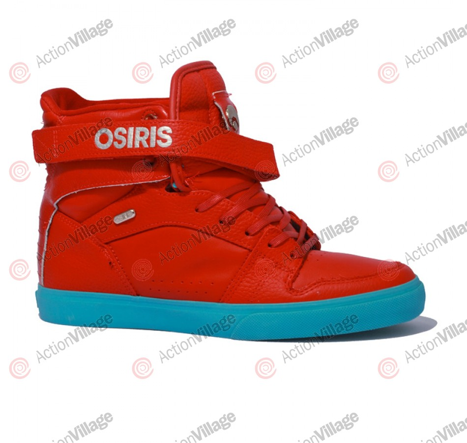 Osiris Rhyme Remix - Men's Shoes Red / Red / Teal