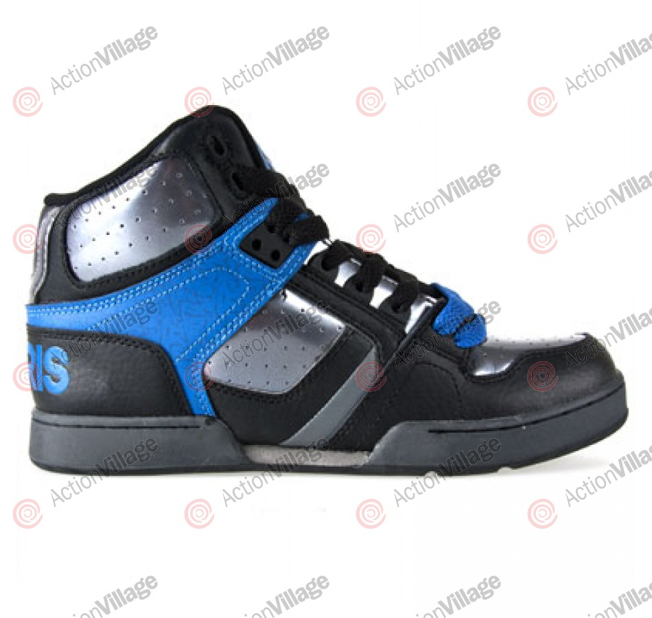 DC NYC 83 - Kids' Shoes Black / Silver / Blue