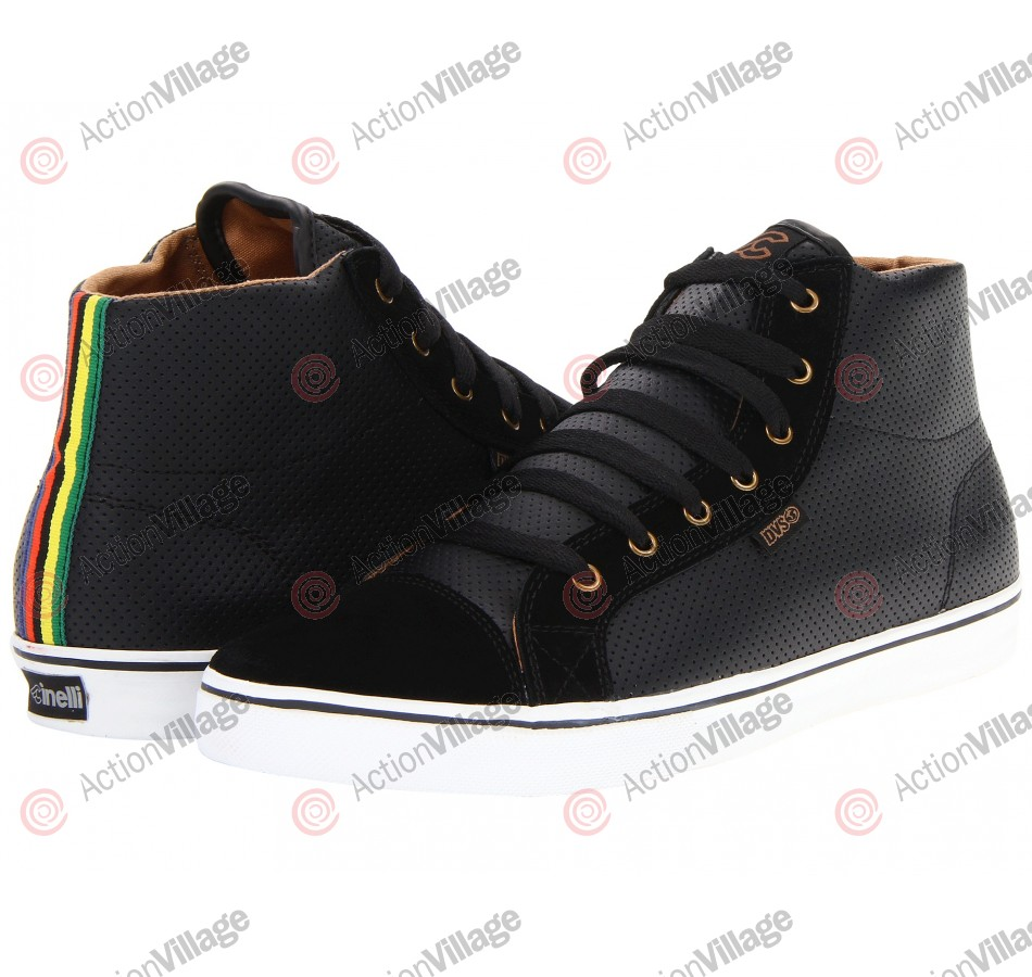 DVS Luster High - Black Leather Cinelli - Skateboard Shoes