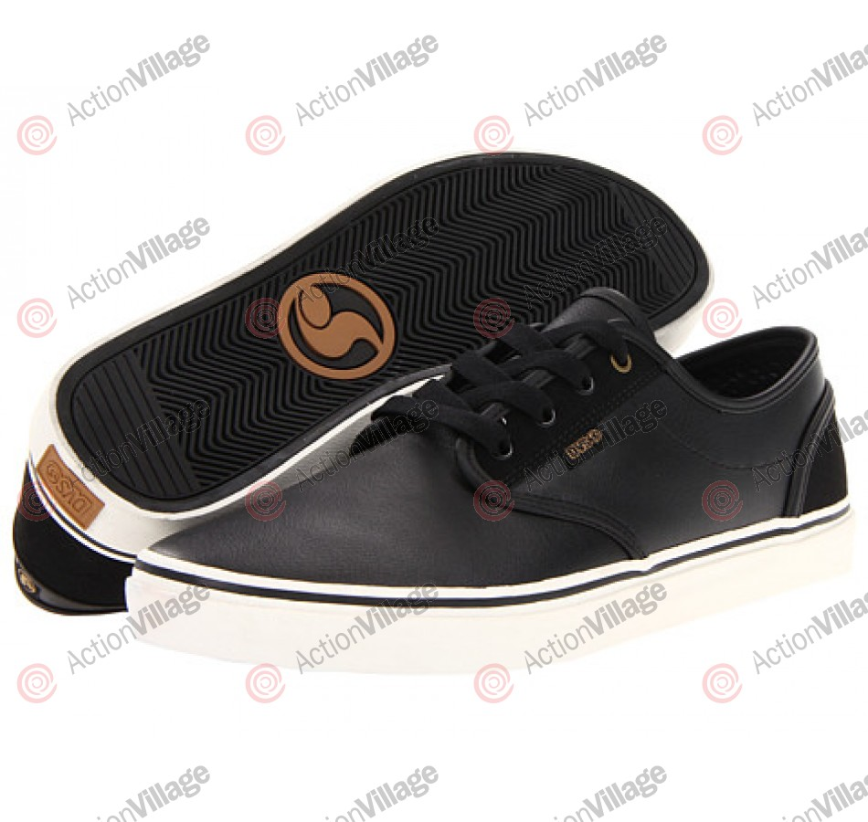 DVS Rico CT - Black Leather - Skateboard Shoes