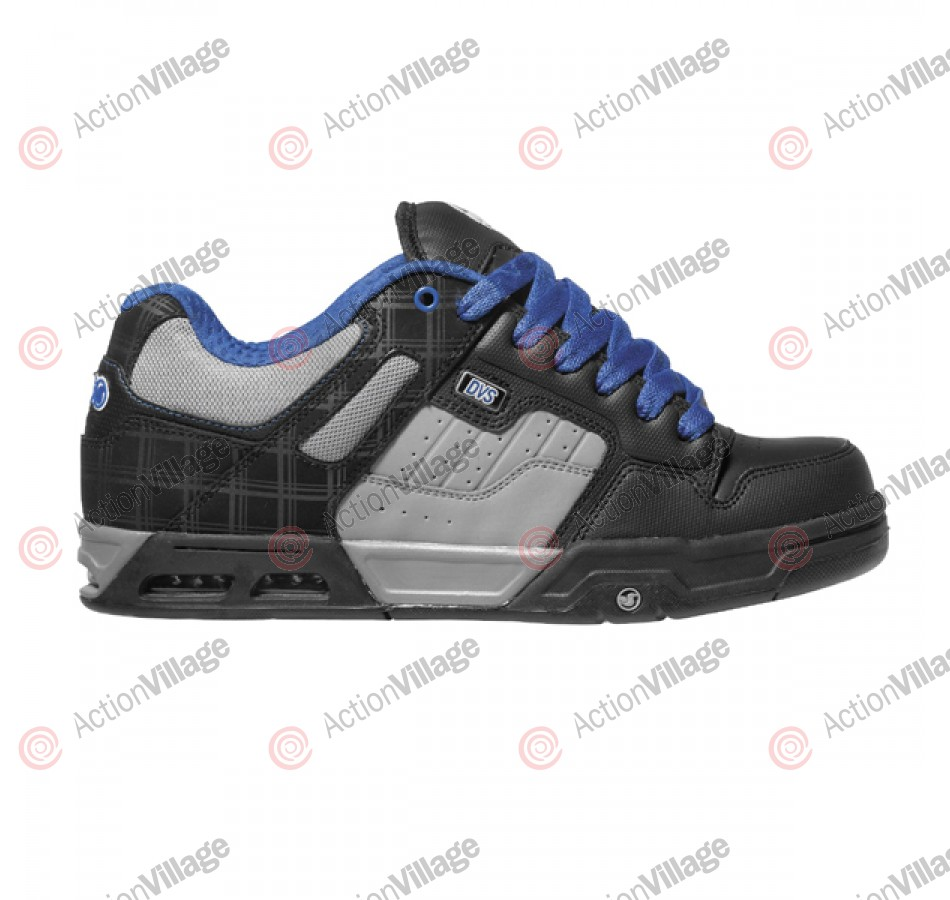 DVS Enduro Heir - Black/Blue Leather - Skateboard Shoes