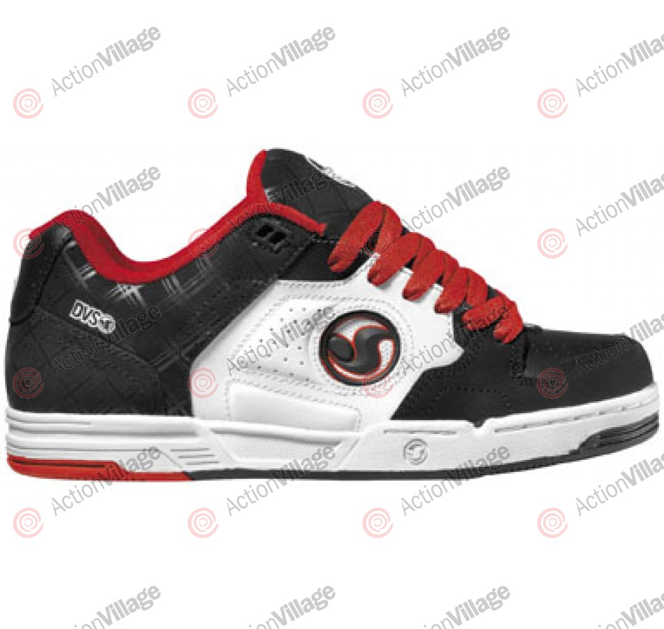 DVS Havoc - Black/Red Leather - Skateboard Shoes