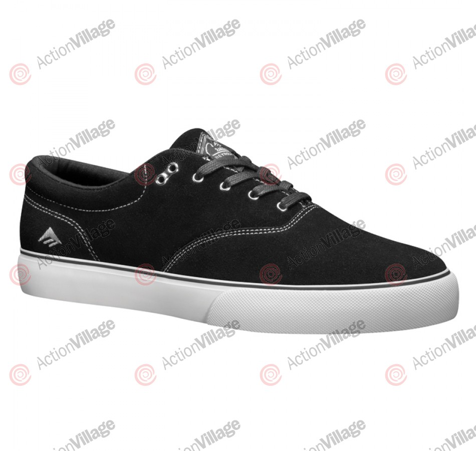 Emerica Reynolds Cruisers - Men's Shoes Black / White / Silver - Size 13