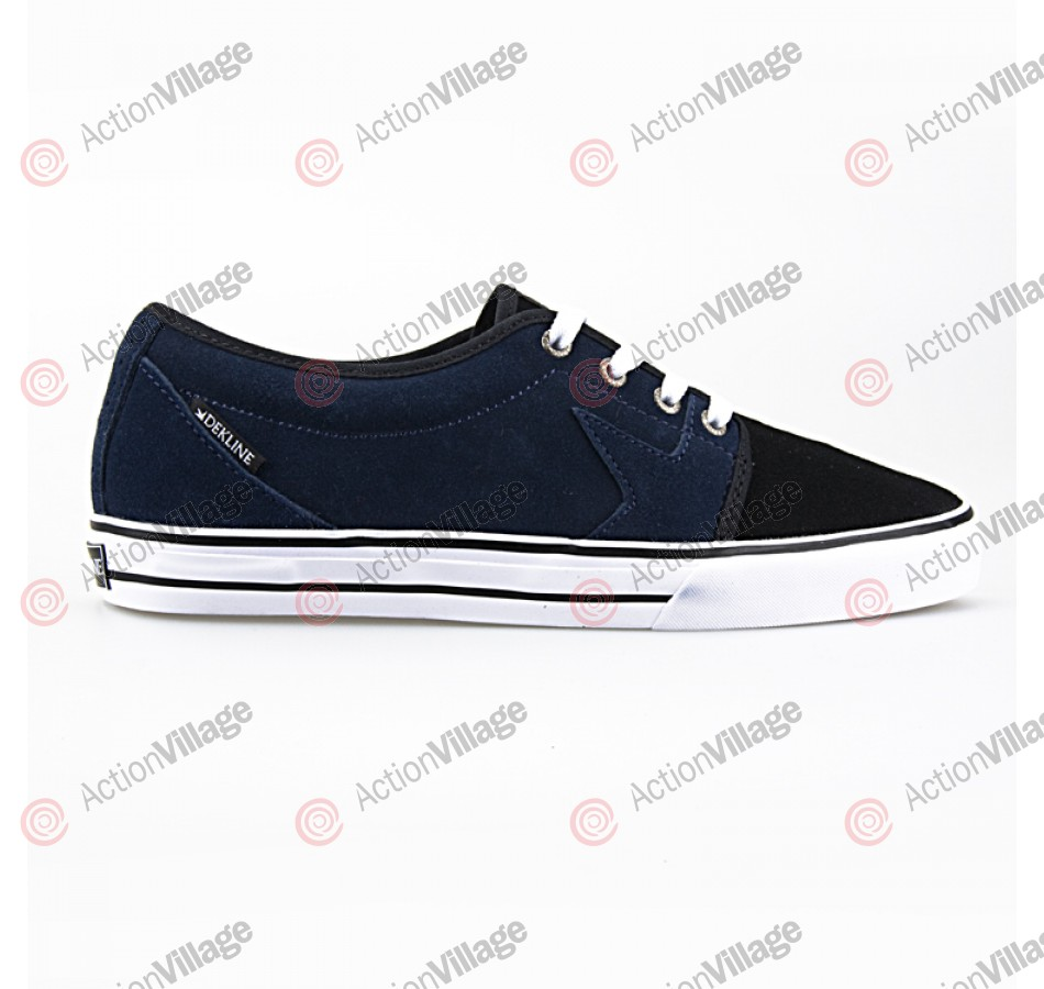 Dekline BLYE - Men's Shoes Navy / Black / Suede