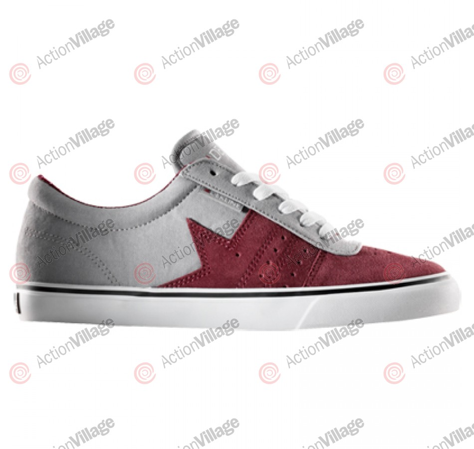 Dekline Archer - Men's Shoes Burgundy / Charcoal / Suede Canvas