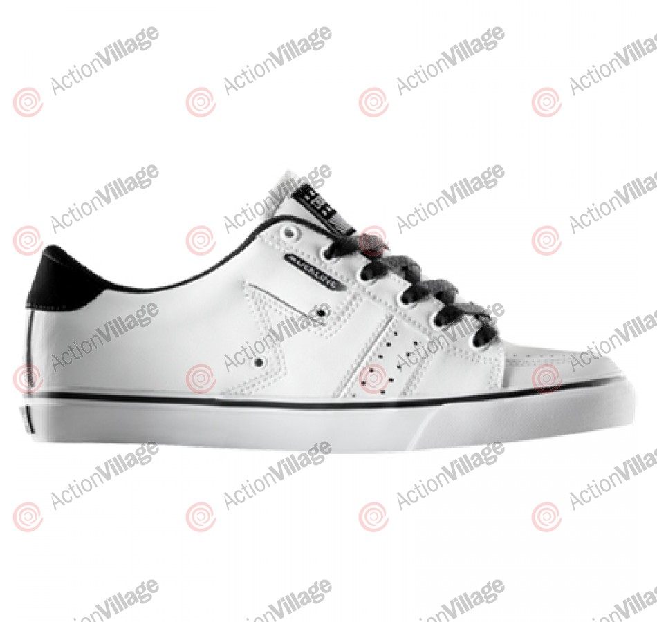 Dekline Paxton - Men's Shoes White / Black Synthetic Nubuck