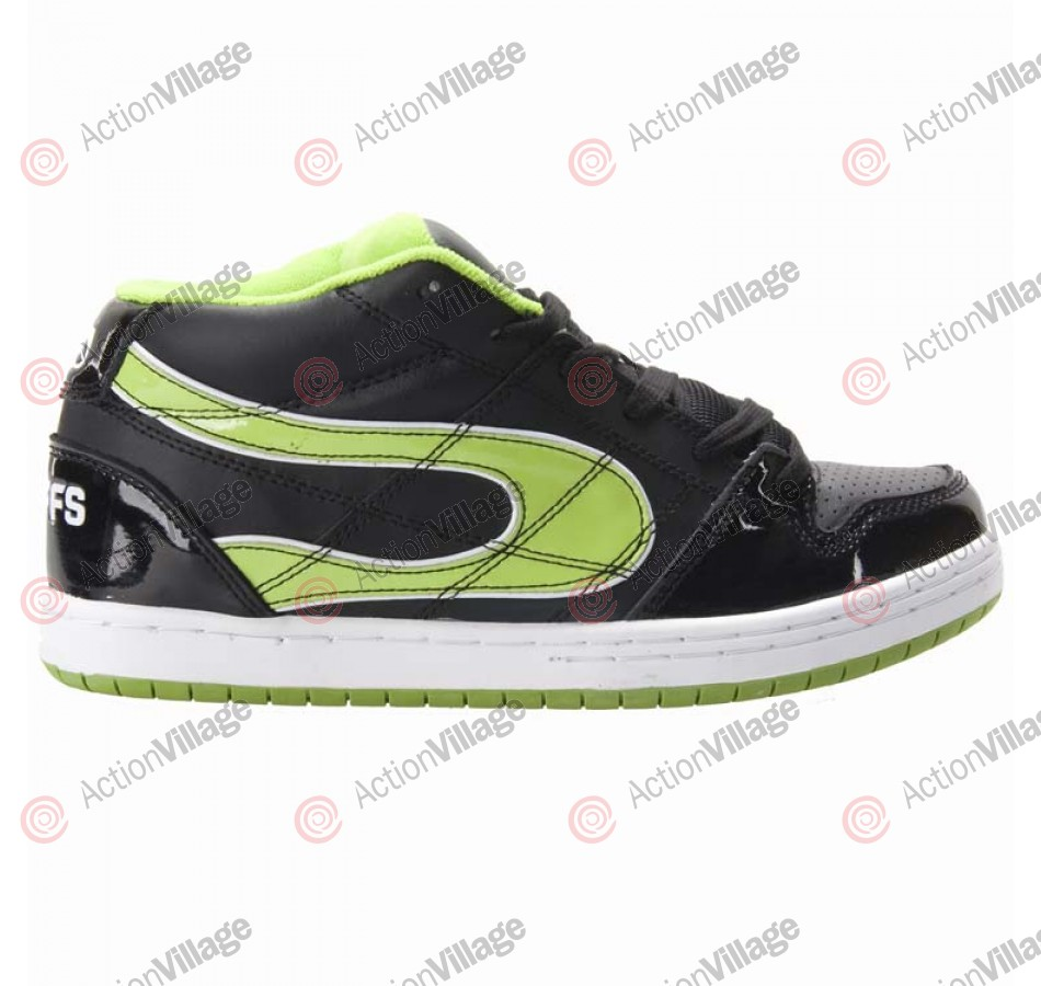 Duffs 4130 - Men's Shoes Black / Lime